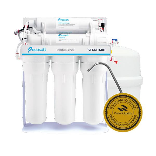 Purificator apa cu osmoza inversa Ecosoft in 6 trepte si pompa booster