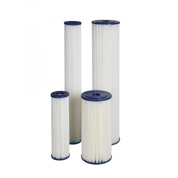 Cartus filtrant lavabil din poliester plisat 10